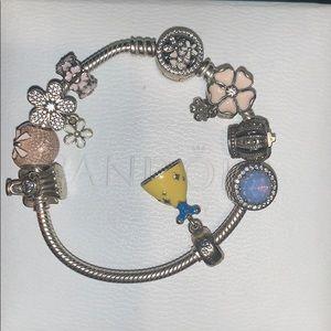 Used Pandora Charm Bracelet